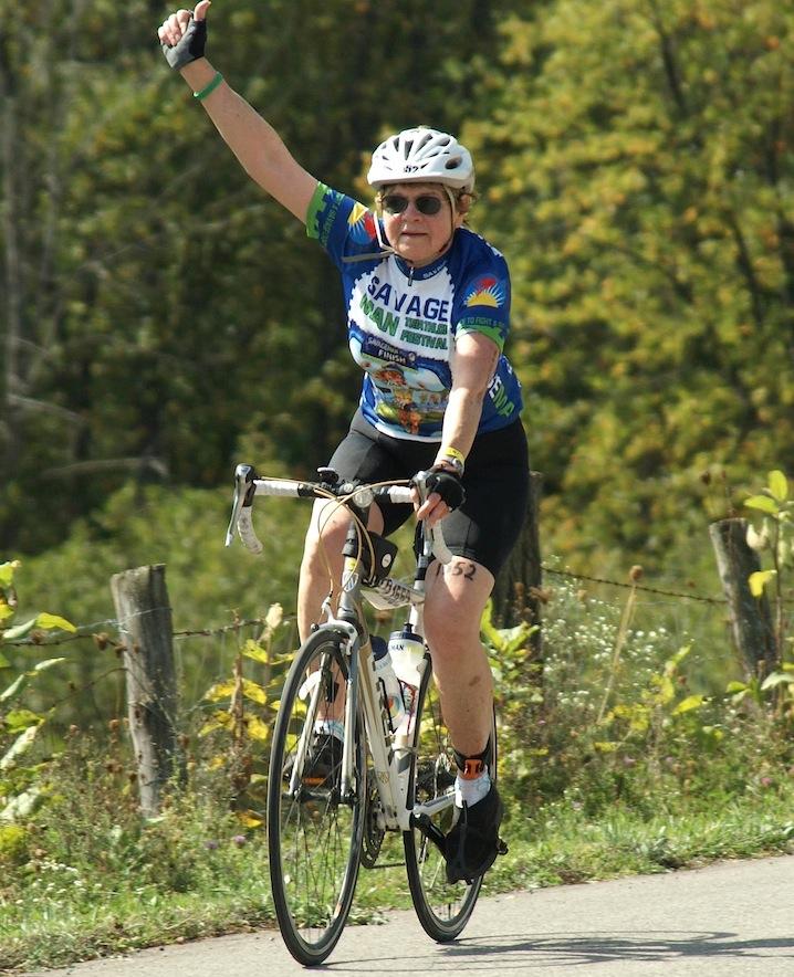Pat on bike by Kim Franklin Trundle best